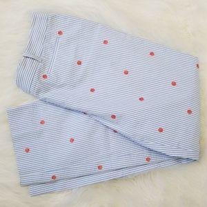 BROOKS BROTHERS Seersucker Pants Shell Print 10